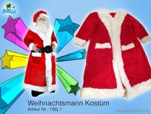 Weihnachtsmann Kostüm Maskottchen Lauffigur 198j Promotion günstig kaufen Walking Act