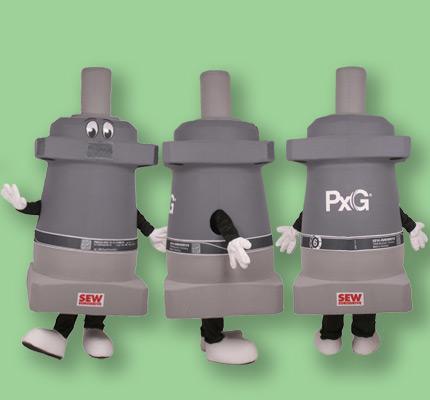 SEW Motor Getriebe Maskottchen Kostüme