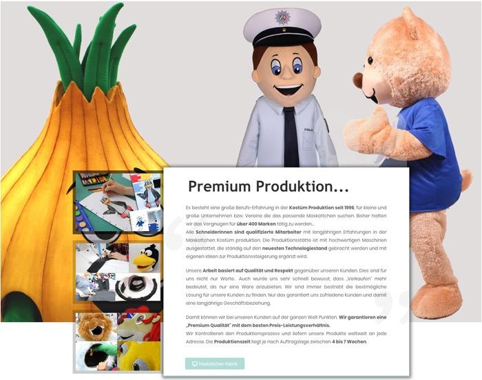 Produktion Kostüm nach Vorlage Zeichnung