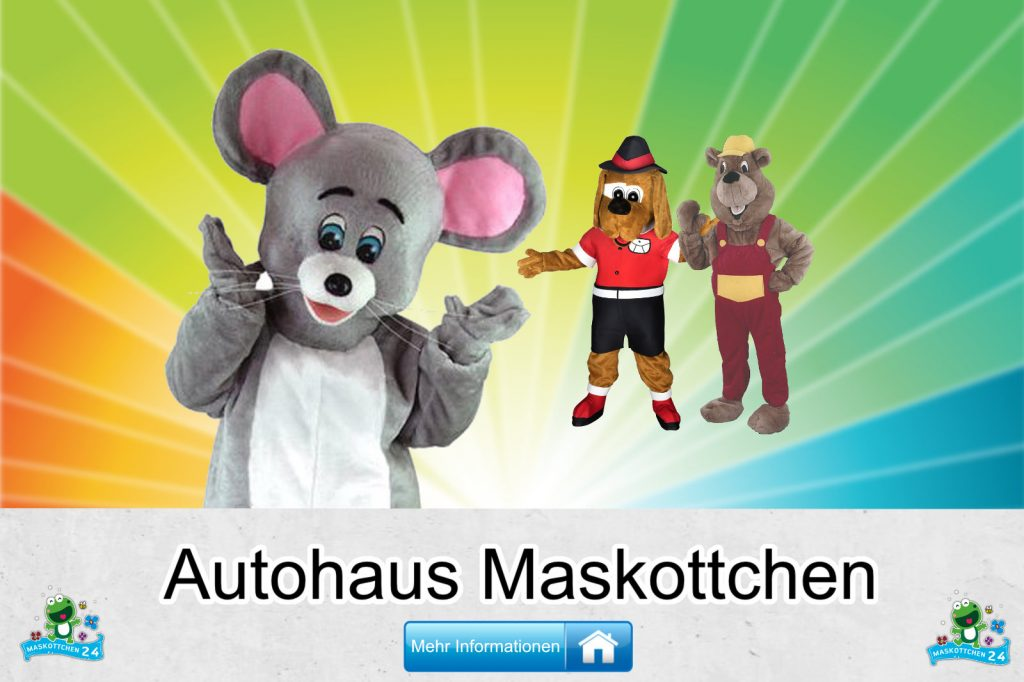 Autohaus Maskottchen Kostüm Hersteller Firma günstig kaufen