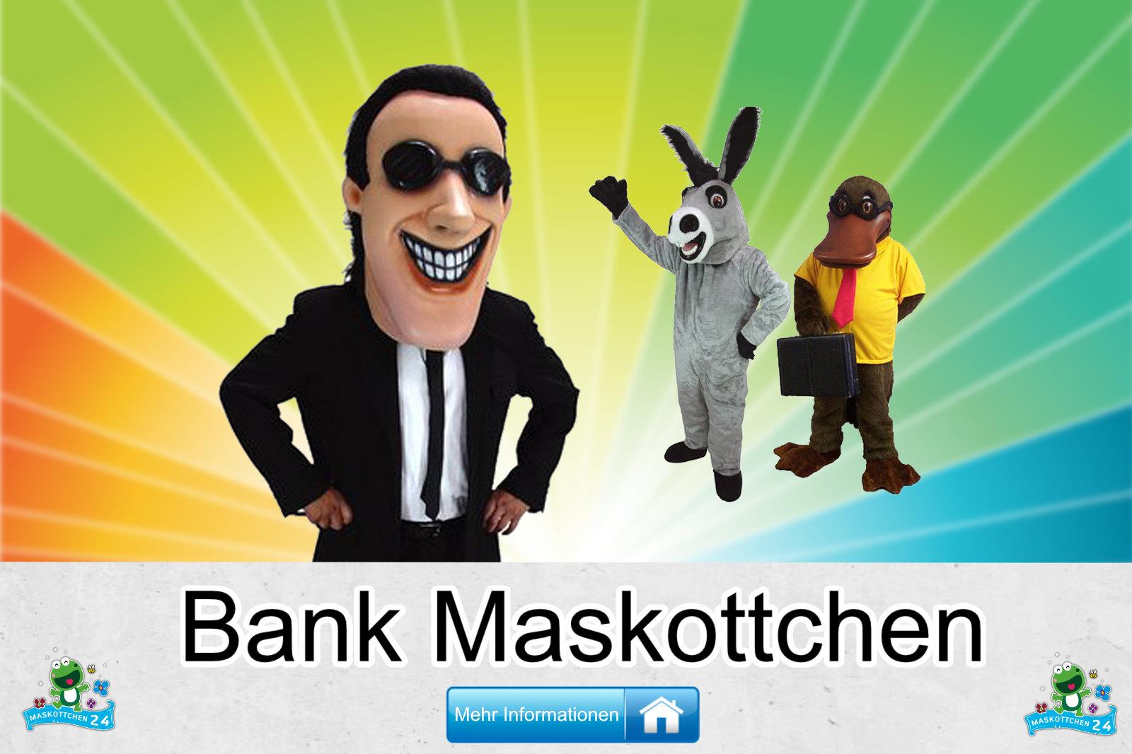 Bank Maskottchen Kostüm Hersteller Firma günstig kaufen
