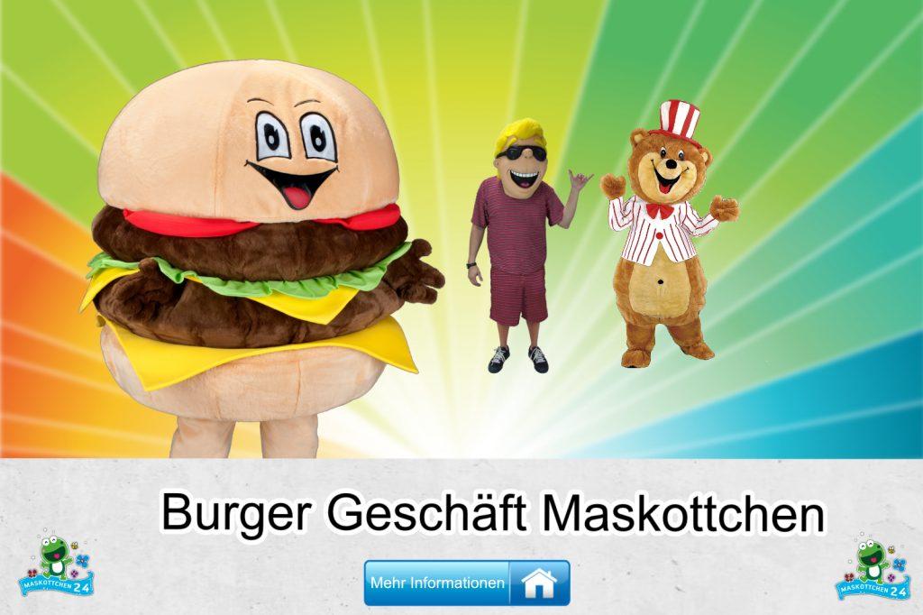 Burger Geschäft Kostüme Maskottchen Karneval Produktion Firma Bau