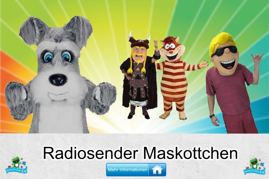 Radiosender Kostüme Maskottchen Karneval Produktion Firma Bau