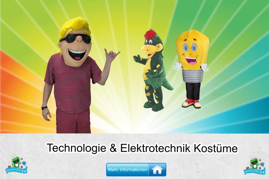 Technologie Elektrotechnik Kostüme Maskottchen Karneval Produktion Firma Bau