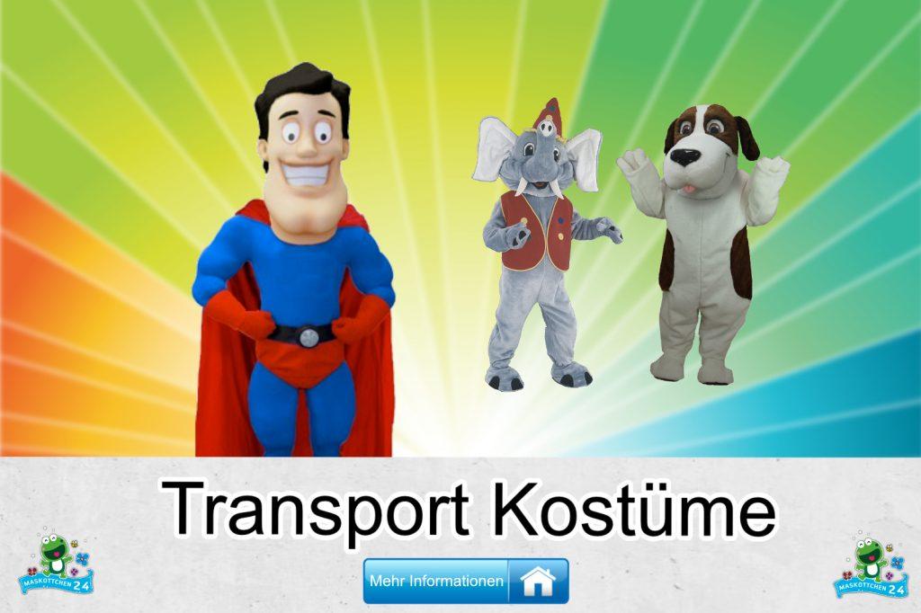 Transport Kostüme Maskottchen Karneval Produktion Firma Bau