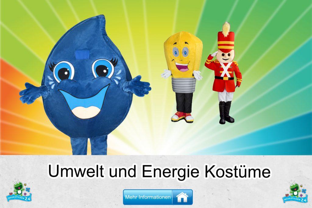 Umwelt Energie Kostüme Maskottchen Karneval Produktion Firma Bau