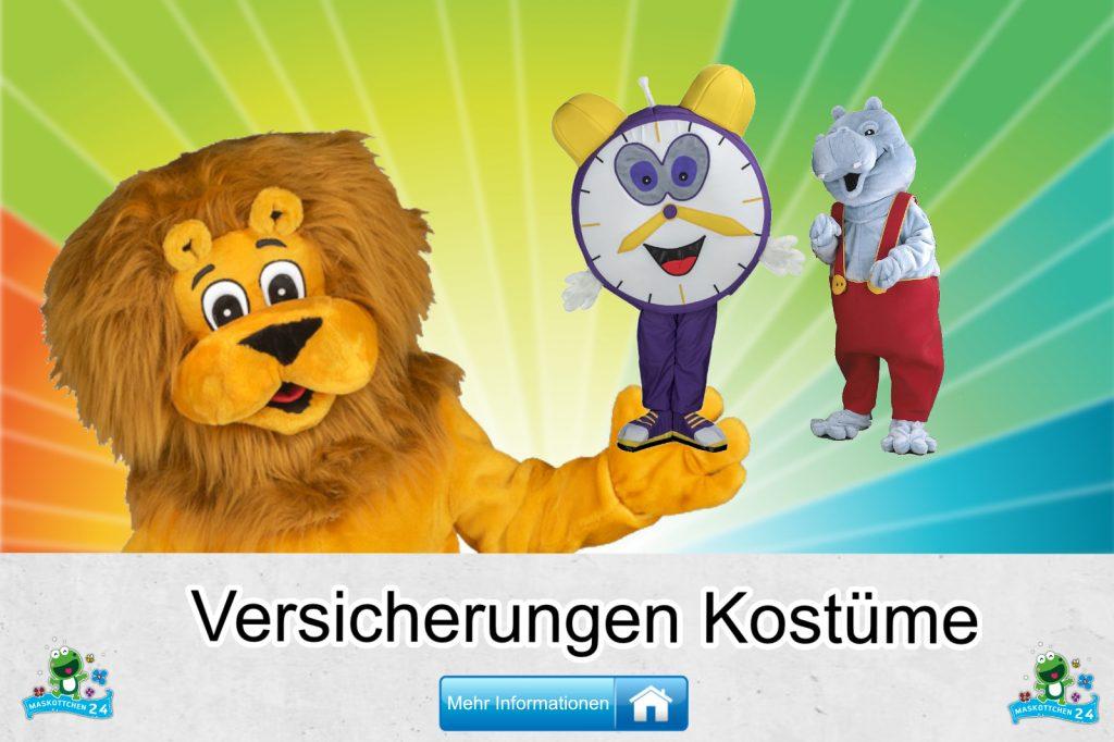 Versicherungen Kostüme Maskottchen Karneval Produktion Firma Bau
