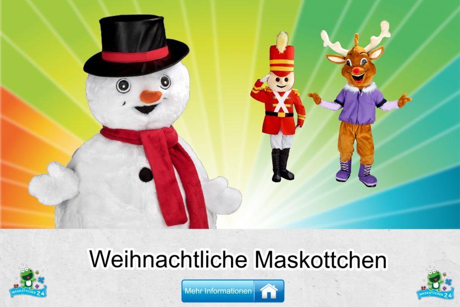 Weihnachtliche-Kostueme-Maskottchen-Karneval-Produktion-Lauffiguren
