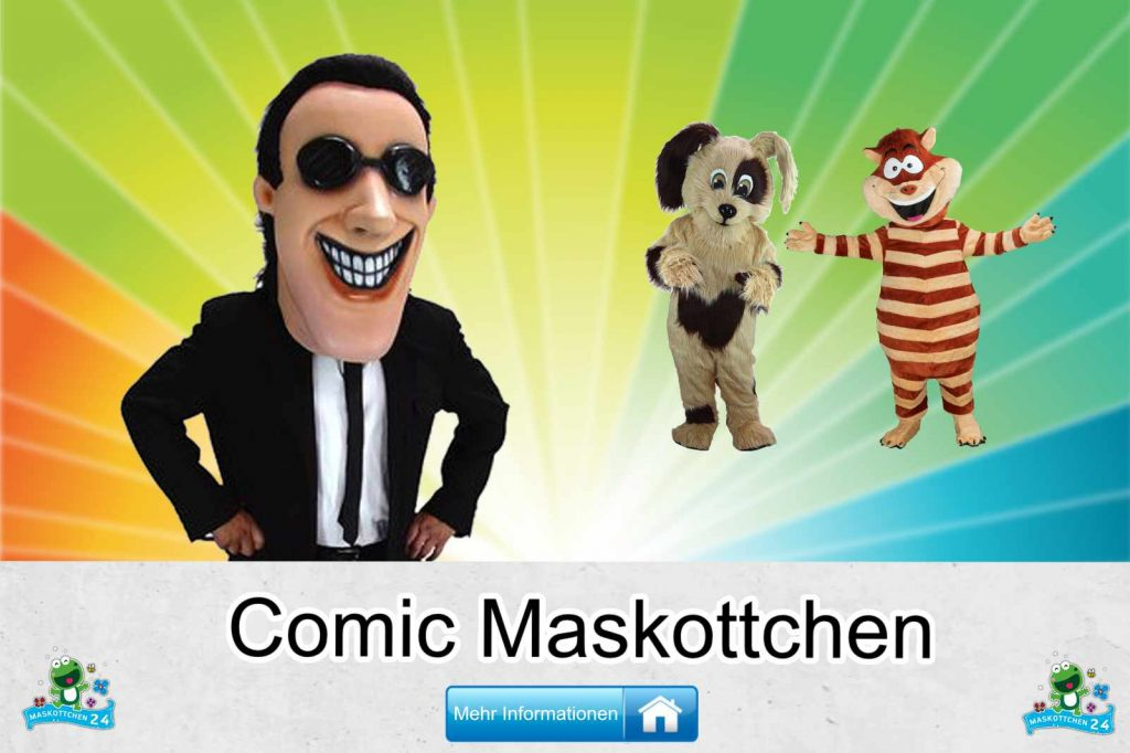 Comic-Kostueme-Maskottchen-Karneval-Produktion-Lauffiguren